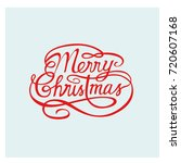 merry christmas badge vector | Shutterstock .eps vector #720607168