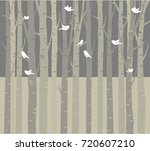 trees background. the trunk and ... | Shutterstock .eps vector #720607210
