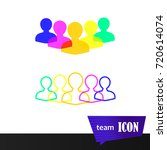 people a team of staff icon... | Shutterstock .eps vector #720614074
