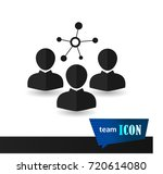 people a team of staff icon... | Shutterstock .eps vector #720614080