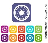 photographic objective icons...   Shutterstock . vector #720625273