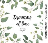 vector floral card design ... | Shutterstock .eps vector #720630160