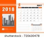 desk calendar 2018 template.... | Shutterstock .eps vector #720630478