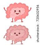sad unhealthy sick intestine... | Shutterstock .eps vector #720632956