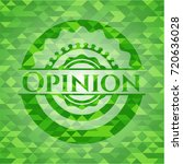 opinion green emblem with... | Shutterstock .eps vector #720636028