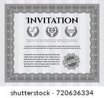 grey formal invitation template....   Shutterstock .eps vector #720636334