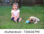 scared girl cry next to a toy... | Shutterstock . vector #720636790