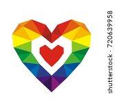 pride symbol. crystal rainbow...   Shutterstock .eps vector #720639958