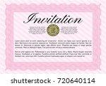 pink vintage invitation. easy...   Shutterstock .eps vector #720640114