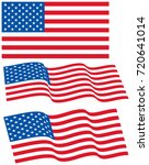 vector set of usa official flag ... | Shutterstock .eps vector #720641014