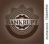 bankrupt vintage wood emblem | Shutterstock .eps vector #720644944