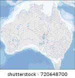 map of australia | Shutterstock .eps vector #720648700