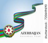 baku vector and azerbaijan flag ... | Shutterstock .eps vector #720649690