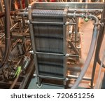commercial plate heat exchanger ... | Shutterstock . vector #720651256