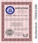 red vintage invitation template....   Shutterstock .eps vector #720651280