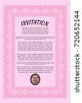 pink retro invitation. with...