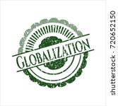 green globalization distressed... | Shutterstock .eps vector #720652150