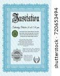 light blue invitation. printer...   Shutterstock .eps vector #720653494