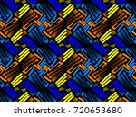 a hand drawing pattern made of... | Shutterstock . vector #720653680