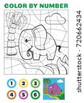 color by number. educational... | Shutterstock .eps vector #720662434