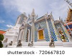 grand palace and temple of the... | Shutterstock . vector #720667810