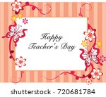 happy teachers day | Shutterstock .eps vector #720681784