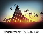 Small photo of competition,Failure concept, businessman falling