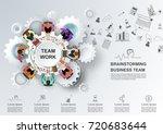 concept for business teamwork.... | Shutterstock .eps vector #720683644