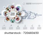 concept for business teamwork.... | Shutterstock .eps vector #720683650