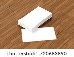 business cards blank mockup  ... | Shutterstock . vector #720683890