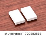 business cards blank mockup  ... | Shutterstock . vector #720683893