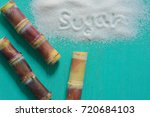 brown sugar produced from sugar ... | Shutterstock . vector #720684103
