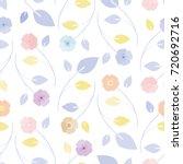 cute seamless floral pattern.... | Shutterstock .eps vector #720692716