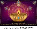 indian festival diwali... | Shutterstock .eps vector #720699376