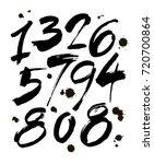 vector set of calligraphic ink... | Shutterstock .eps vector #720700864
