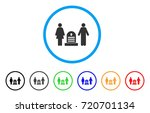 family cemetery rounded icon.... | Shutterstock .eps vector #720701134