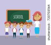 teacher woman educated the... | Shutterstock .eps vector #720703564