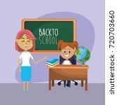 teacher woman educated the... | Shutterstock .eps vector #720703660