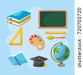 set education tools to creative ... | Shutterstock .eps vector #720703720