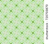intricate tile able green... | Shutterstock . vector #720703870