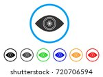smart vision eye rounded icon....   Shutterstock .eps vector #720706594