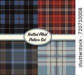 vector knitted plaid tartan... | Shutterstock .eps vector #720710008