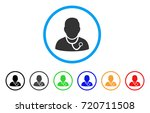physician rounded icon. style... | Shutterstock .eps vector #720711508
