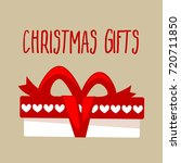 christmas gift box for holiday. | Shutterstock . vector #720711850
