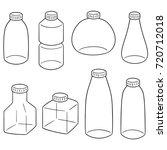 vector set of bottle | Shutterstock .eps vector #720712018