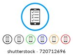 mobile todo list rounded icon.... | Shutterstock .eps vector #720712696