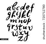 handwritten font  alphabet....   Shutterstock .eps vector #720712780