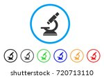 microscope rounded icon. style... | Shutterstock .eps vector #720713110