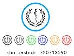 medical honor laurel wreath...   Shutterstock .eps vector #720713590