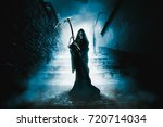 high contrast image of the grim ... | Shutterstock . vector #720714034